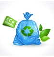 Ecology symbol plastic bag vector image