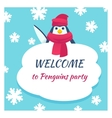 funny penguin poster vector image vector image