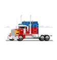 Fura truckers flat design vector image