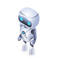 future isometric cute robot innovation technology vector image vector image
