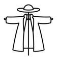 garden scarecrow icon outline style vector image vector image