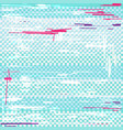 glitch technology azure background vector image vector image