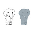 hand drawn with a cute baby elephant celebrating vector image vector image