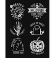 Happy Halloween design collection Black badges vector image vector image