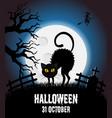 happy halloween poster halloween banner vector image vector image