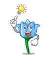 have an idea bell flower mascot cartoon vector image