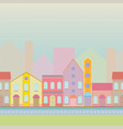 house buildings home seamless background pattern vector image vector image