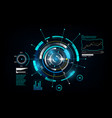 hud interface gui futuristic technology vector image vector image