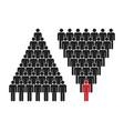 human pyramid teamwork corporate hierarchy vector image