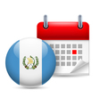 Icon of National Day in Guatemala vector image vector image