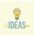 Ideas Outside The Box Abstract Concept Logo vector image vector image