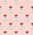 lama seamless pattern cute animal with vector image vector image