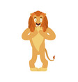 lion scared omg wild animal oh my god emoji vector image vector image