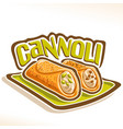 logo for sicilian cannoli vector image vector image