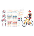man in special clothing on bicycle constructor vector image