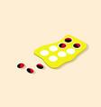 medicine pills in packs pills in blister pack vector image