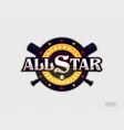 modern professional emblem all star for baseball vector image vector image