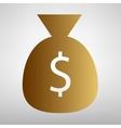 Money bag sign vector image vector image