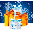 Much gifts to holiday vector image vector image