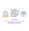 pet sitting concept icon animal shelter hotel vector image vector image