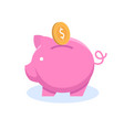 piggy-bank banking business services metaphor icon vector image vector image