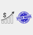 pixel success financial chart icon and vector image vector image