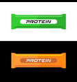 protein bar healthy snack green vector image