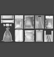 realistic plastic package empty vacuum plastic vector image