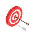 red white arch target icon isometric style vector image