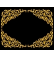 Rich gold baroque curly ornamental frame vector image vector image