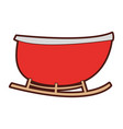 santa carriage isolated icon vector image vector image