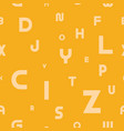 seamless pattern with latin letters vector image