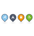 set colorful map pointers or pins with extra vector image vector image