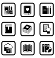 set of nine book icons vector image vector image