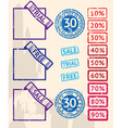 Set of sale stamps with percents vector image vector image