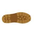 shoe footprint vector image vector image
