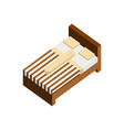 single bed 3d isometric furniture vector image vector image