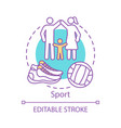 sport concept icon family time together idea thin vector image vector image