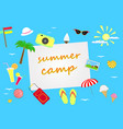 summer theme background vector image vector image