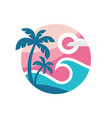 summer travel - concept business logo template vector image vector image
