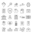 taxes icons set outline style vector image vector image