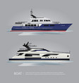 transportation boat tourist yacht to travel vector image
