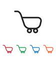 trolley icon vector image vector image