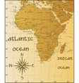 vintage map of Africa vector image