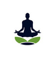 yoga meditation pose logo icon vector image vector image
