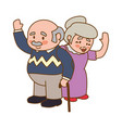 couple elder adults gesture vector image