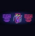 online casino is a neon sign logo symbol in neon vector image