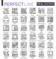 real estate concept symbols perfect thin line vector image