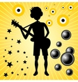 young guy with bass guitar vector image
