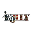4th of july cut out betsy ross vector image vector image